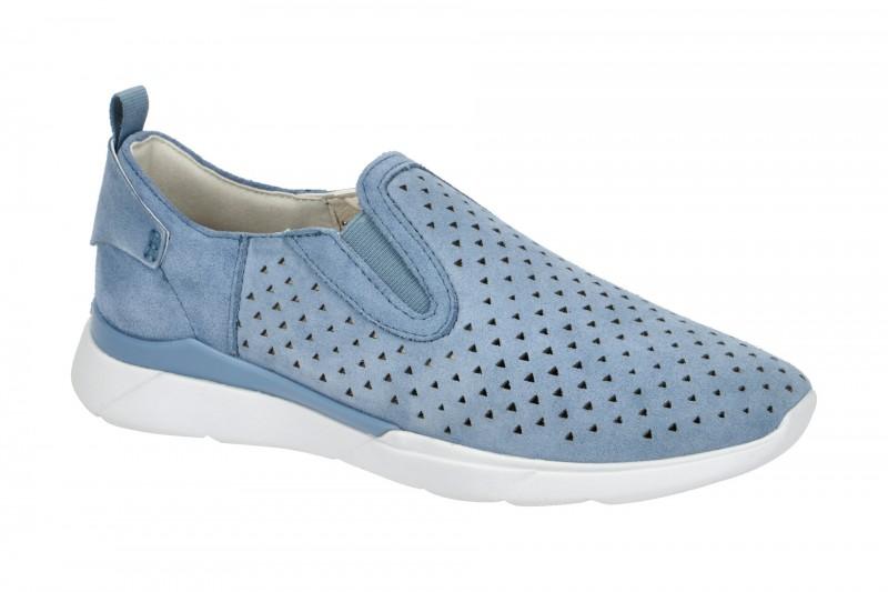 Geox HIVER sportliche Slipper für Damen in hell-blau