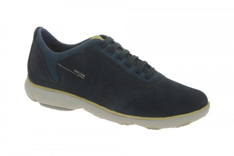 Geox Respira Nebula A Schnürhalbschuhe in blau gelb Sneakers