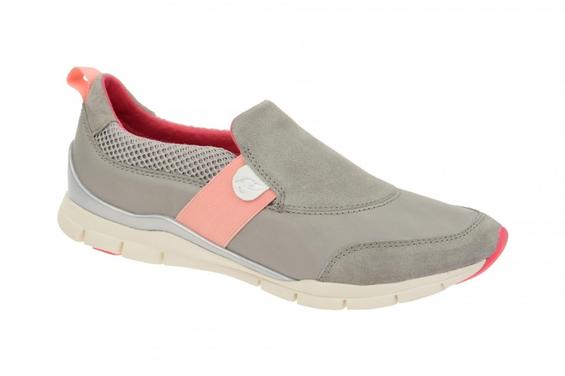 Geox Respira Sukie A Sneakers in hellgrau Damen Slippers