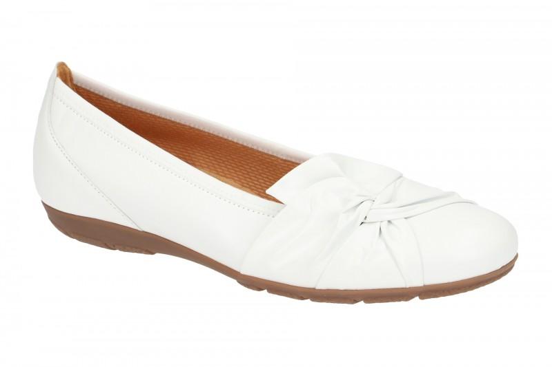 Gabor 24.150 Ballerina - Halbschuhe - Slipper für Damen in weiß