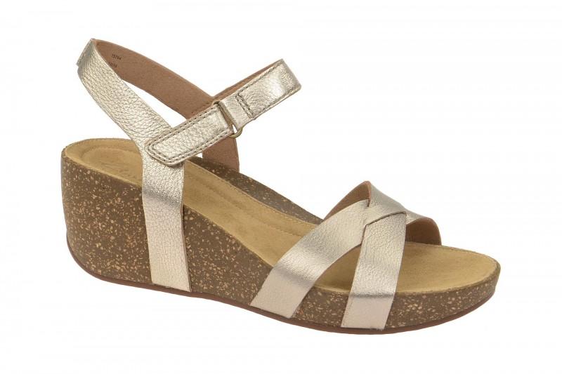 Clarks TEMIRA COMPASS Riemchen Sandale für Damen in gold