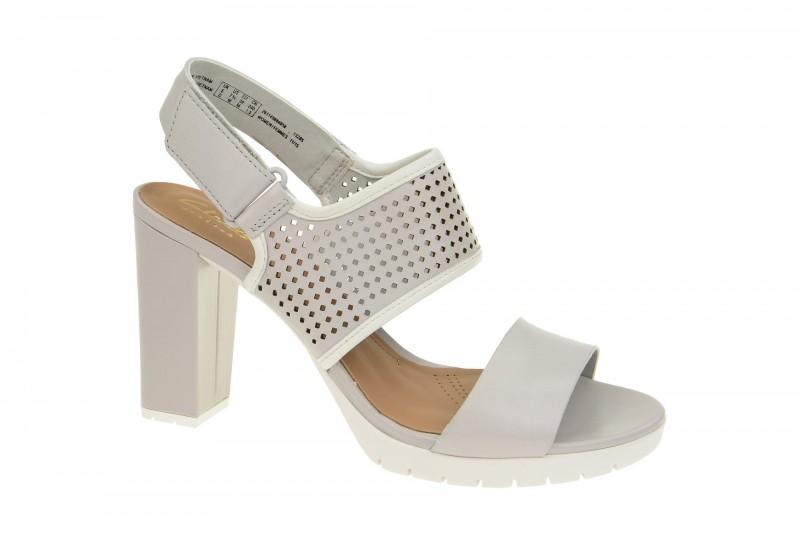 Clarks PASTINA MALORY Riemchen Sandale für Damen in hell-grau