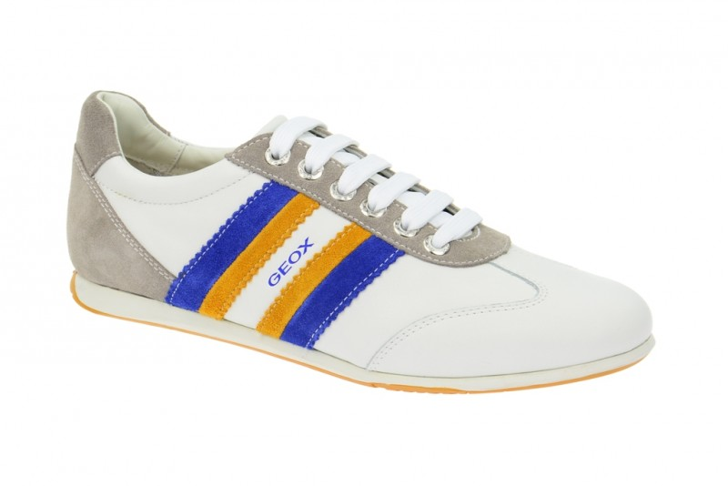 Geox Respira Andrea Schuhe in weiß Herren Sneakers Größe 40