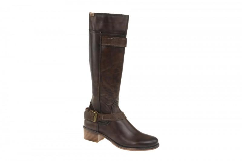 Pikolinos ZARAGOZA elegante Stiefel für Damen in dunkel-braun