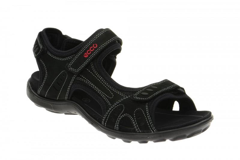 Ecco All Terrain Lite Riemchen Sandale für Damen in schwarz