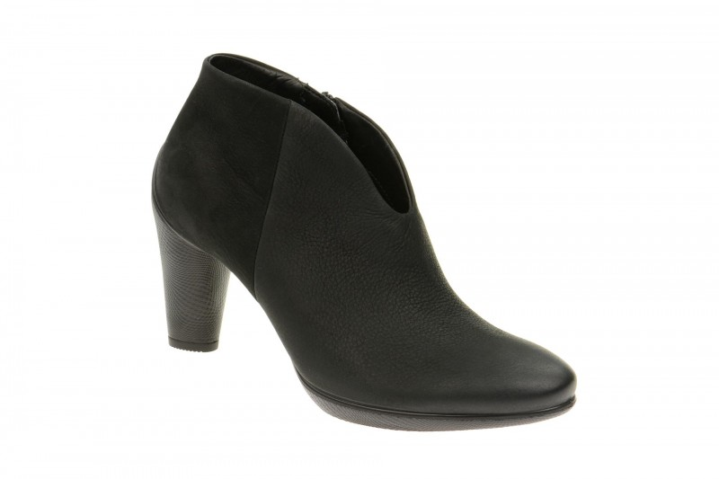 Ecco Sculptured 75 elegante Stiefelette für Damen in schwarz