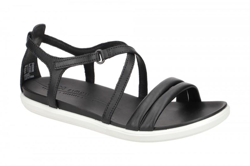 Ecco SIMPIL SANDAL Riemchen Sandale für Damen in schwarz