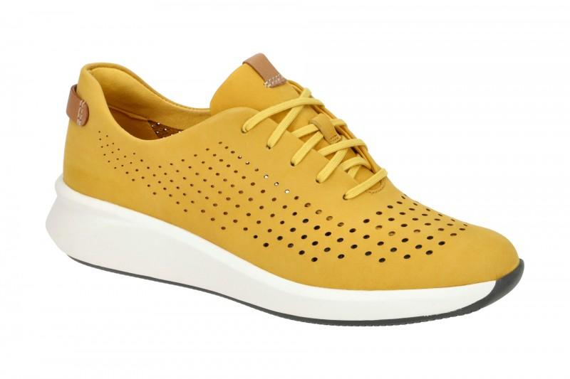 Clarks UN RIO TIE Sneakers für Damen in gelb