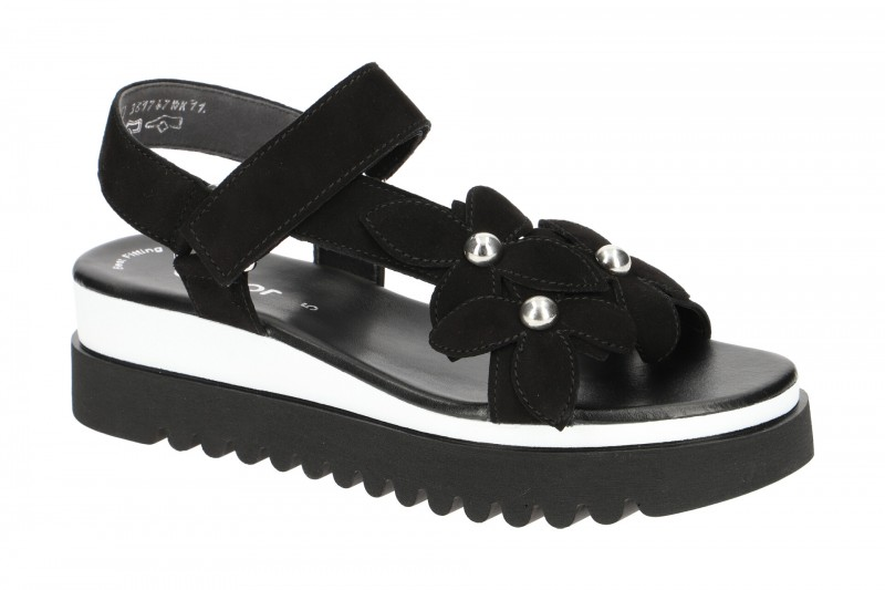 Gabor 23.611 Riemchen Sandale für Damen in schwarz