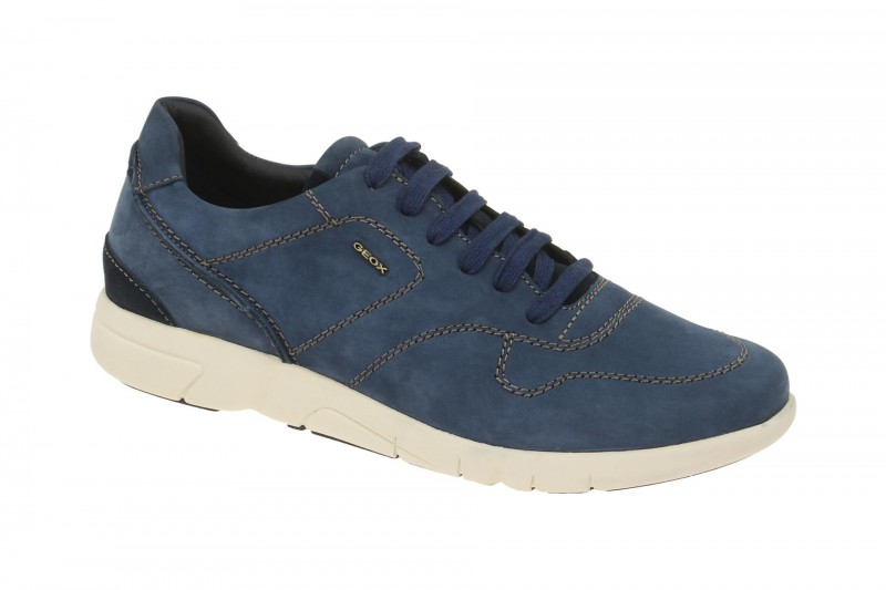 Geox Respira Brattley A Herrenschuhe blau Sneakers