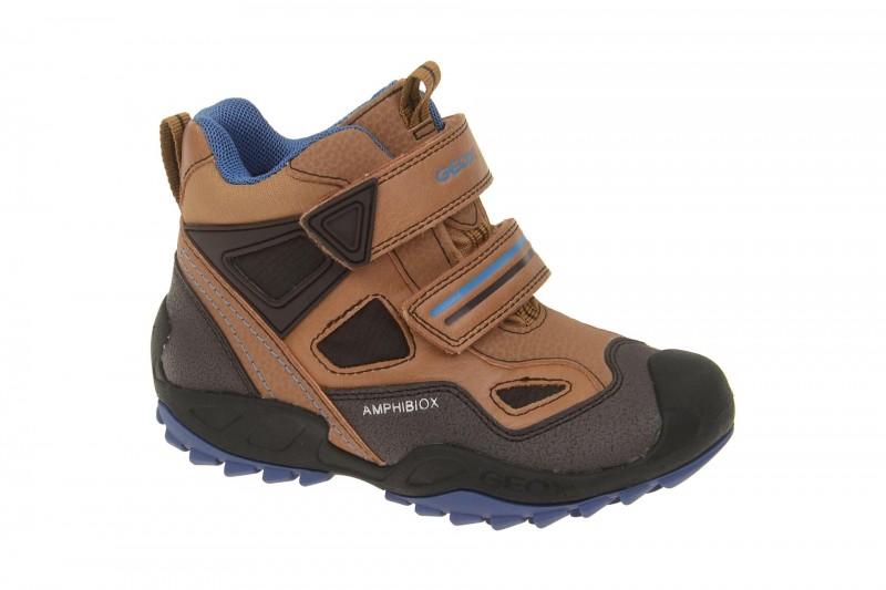 Geox Respira Jungen Stiefel Savage ABX in braun Allwetter Boots