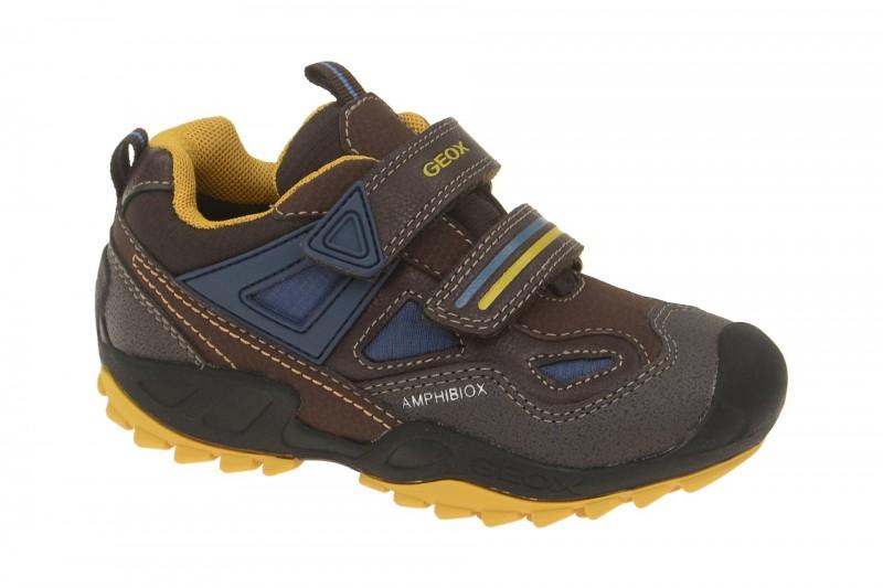 Geox Respira Jungen Schuhe Savage ABX in braun Amphibiox