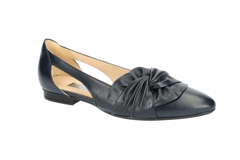 Gabor 81.351 Ballerina - Halbschuhe - Slipper für Damen in dunkel-blau