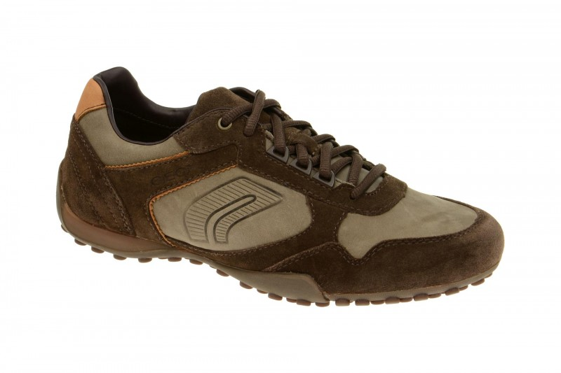 Geox Respira Snake Q Sneakers in dunkelbraun - Herrenschuhe