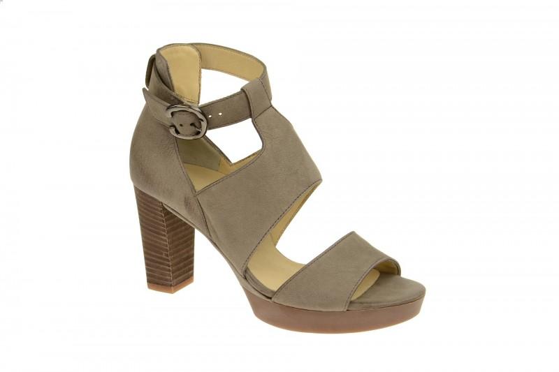 Paul Green 6465 Riemchen Sandale für Damen in grau
