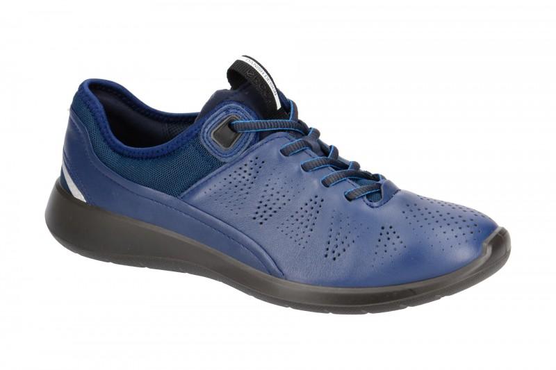 Ecco SOFT 5 sportliche Halbschuhe für Damen in blau