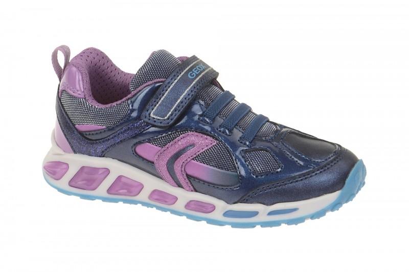 Geox Respira Shuttle Girl Kinder Schuhe in blau lila Mädchen