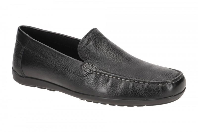 Geox TIVOLI elegante Slipper für Herren in schwarz