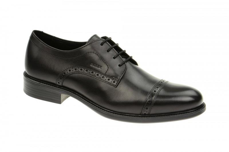 Geox Respira Carnaby B Schuhe in schwarz Herren Businessschuhe