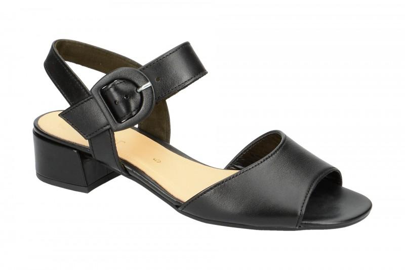 Gabor 81.742 Riemchen Sandale für Damen in schwarz