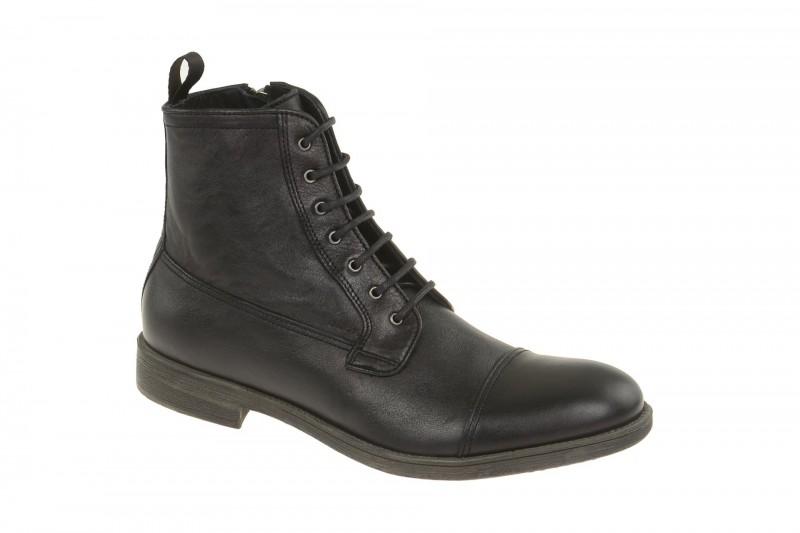 Geox Respira Jaylon B Herren Boots in schwarz - elegante Stiefelette