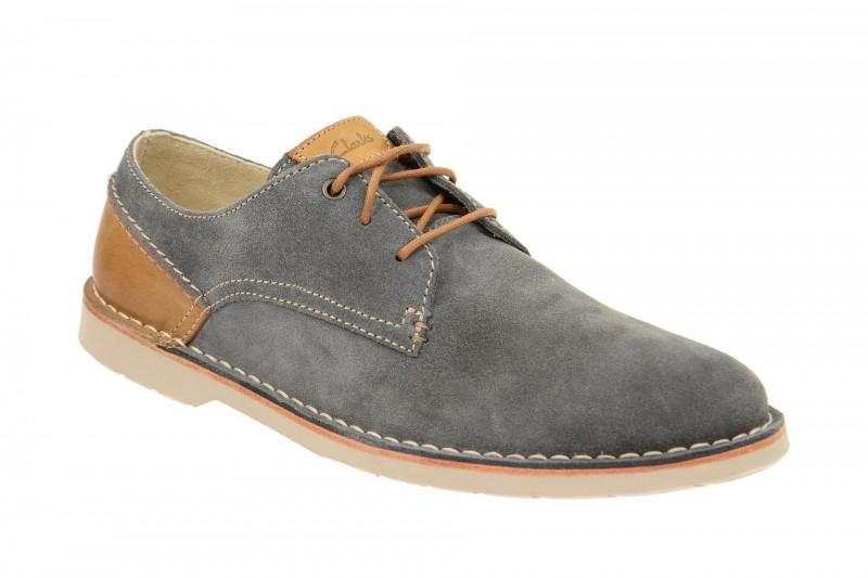 Clarks Hinton Fly blau elegante Halbschuhe und Schnürschuhe für Herren in blau