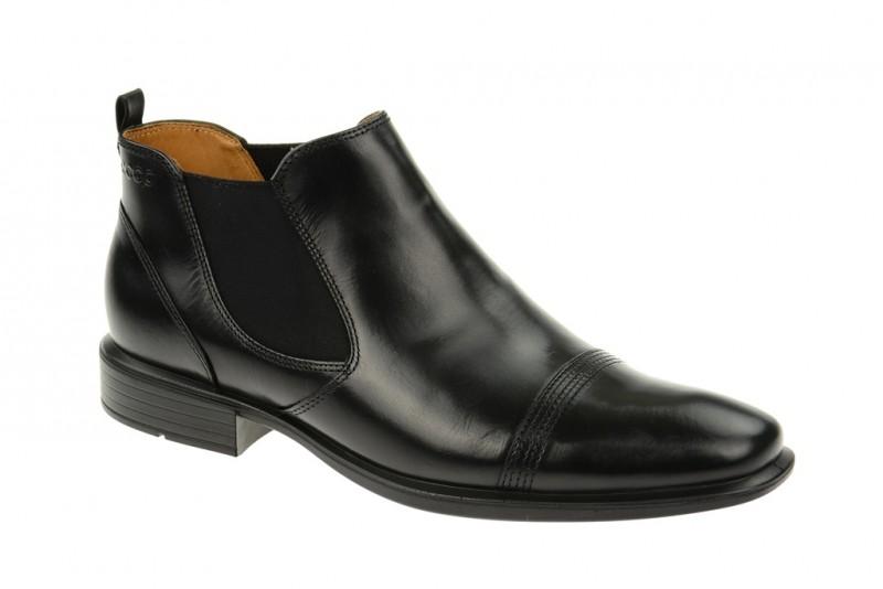 Ecco Cairo elegante Stiefelette für Herren in schwarz