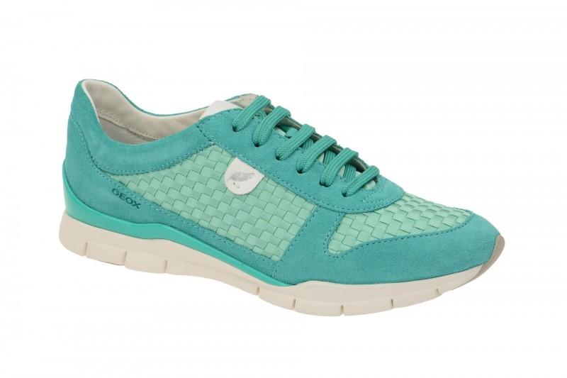 Geox Respira Sukie A Sneakers in hellgrün Damenschuhe