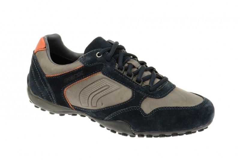 Geox Respira Snake Q Sneakers in dunkelblau beige Herrenschuhe
