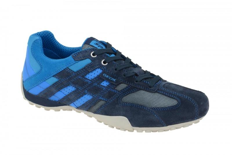 Geox Respira Snake K Herren Sneakers in blau hellblau