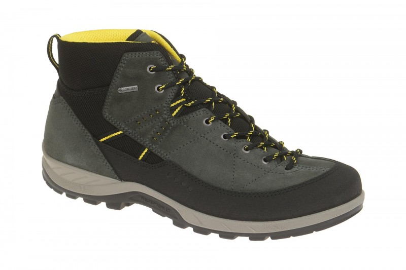 Ecco YURA Trekking- und Wanderstiefelette für Herren in dunkel-grau