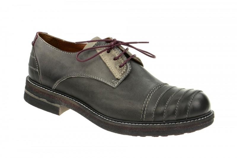 Bello HE127 elegante Halbschuhe und Schnürschuhe für Herren in dunkel-grau