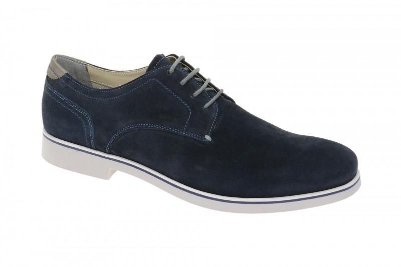 Geox Respira Danio C Schuhe in dunkelblau Velour Herrenschuhe