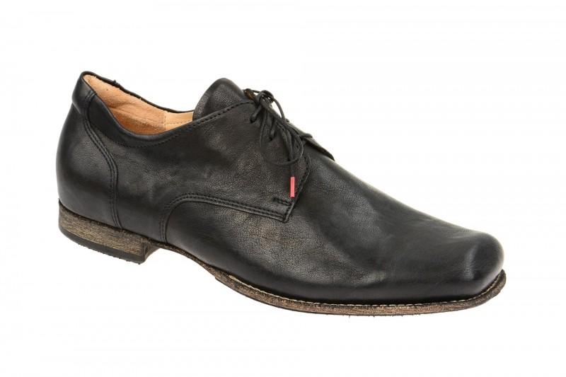 Think GURU elegante Halbschuhe und Schnürschuhe für Herren in schwarz