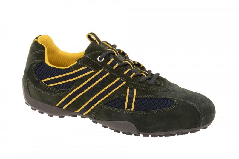 Geox Respira Snake S Sneaker in dunkelgrau Herrenschuhe