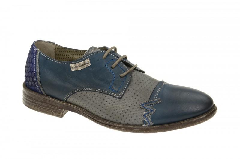 Bello HE171 elegante Halbschuhe und Schnürschuhe für Herren in blau