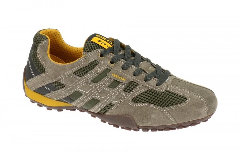 Geox Respira Snake K Sneakers in taupe grün Herrenschuhe
