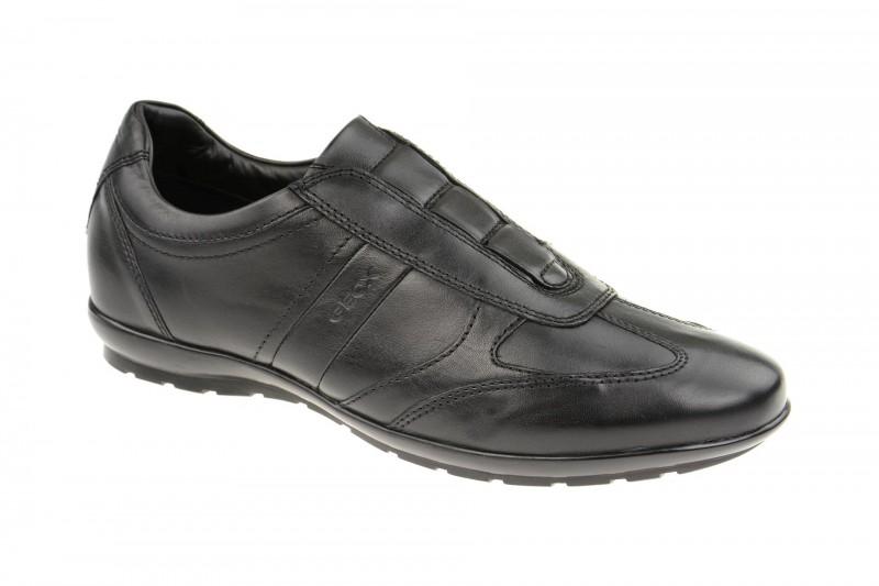 Geox Respira Symbol L Herrenschuhe in schwarz Slippers
