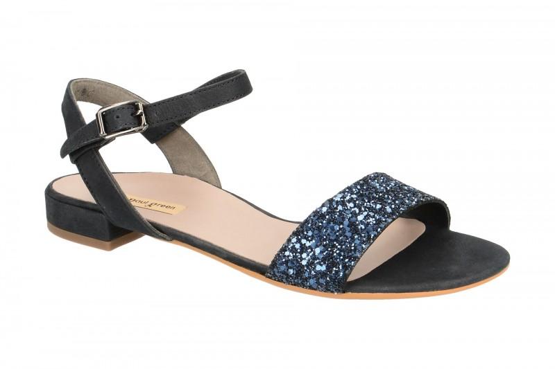 Paul Green 6076 Riemchen Sandale für Damen in dunkel-blau