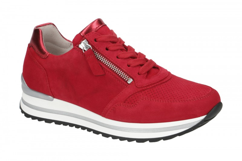 Gabor 66.528 Sneakers für Damen in rot