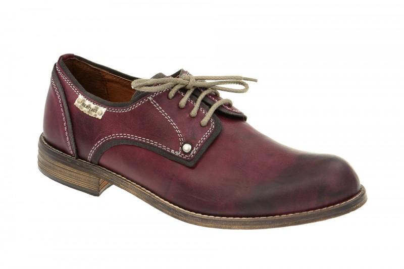 Bello HE121 elegante Halbschuhe und Schnürschuhe für Herren in rot
