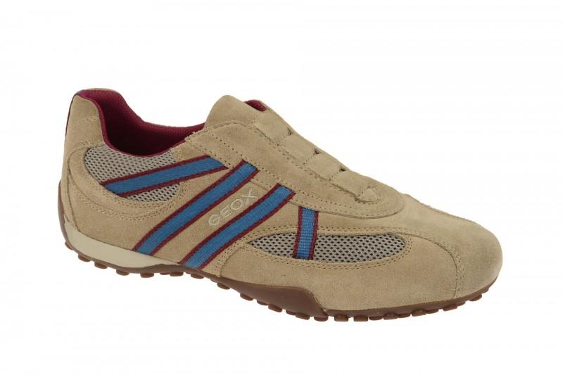Geox Respira Snake V Herren Slipper in beige sand Sneakers