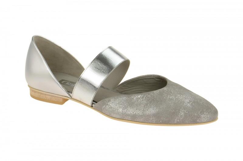 Gabor 61.353 Ballerina - Halbschuhe - Slipper für Damen in grau