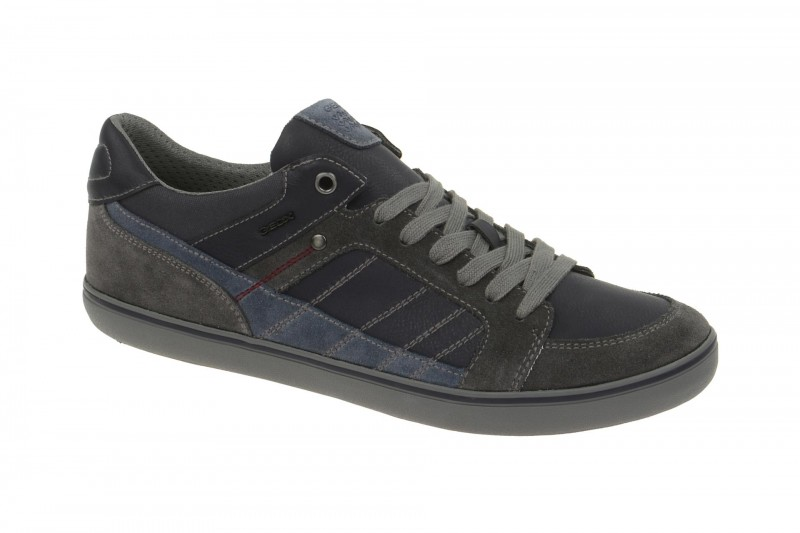 Geox Respira Box F Sneakers in blau grau Herrenschuhe