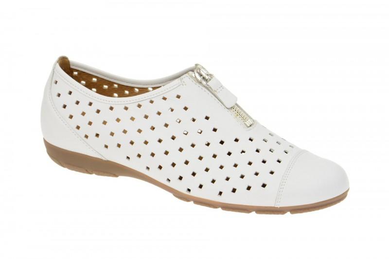 Gabor 84.164 bequeme Slipper für Damen in weiß