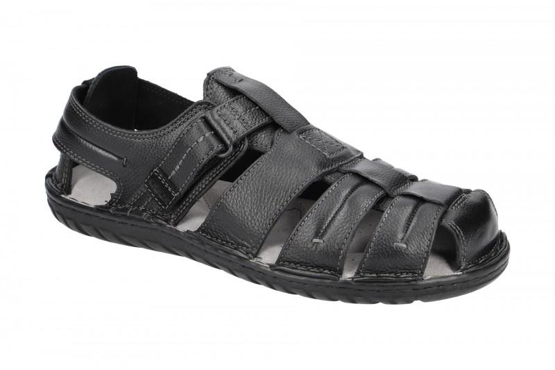 Geox RUFUS bequeme Sandale für Herren in schwarz