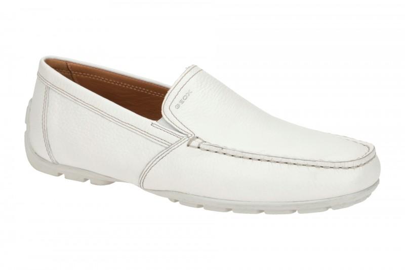 Geox MONET elegante Slipper für Herren in weiß