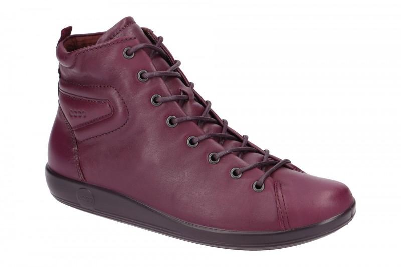 Ecco SOFT 2.0 bequeme Stiefelette für Damen in violett