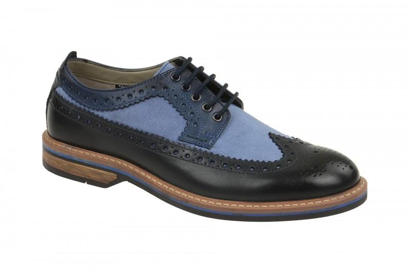 Clarks PITNEY LIMIT elegante Halbschuhe und Schnürschuhe für Herren in dunkel-blau