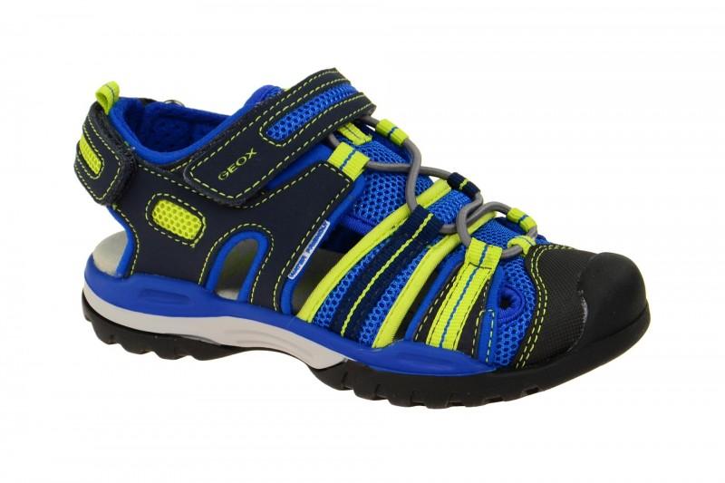 Geox Respira Borealis Outdoor Kinder Sandaletten in blau gelb